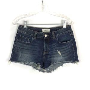 Pink VS Distressed Denim Cutoff Shorts Size 6